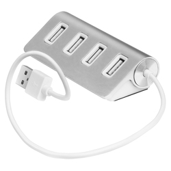 USB 2.0 HUB на 4 порта (Greenconnect GCR-UH224S) (серебристый)