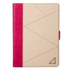 Чехол-книжка для Apple iPad Air (Rich Boss Executive Case) (бежевый/розовый)